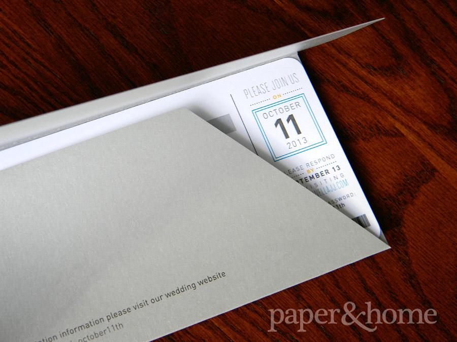 Custom Plane Ticket Wedding Invitation In Pocket