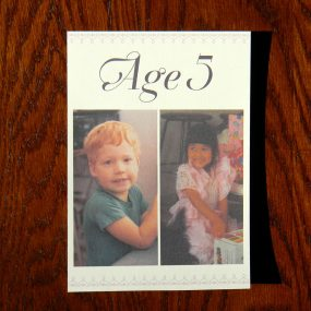 Cute old photo wedding table numbers
