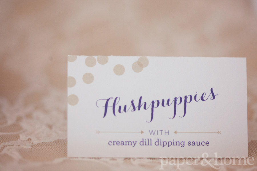 Mardi Gras Hushpuppies Tented Sign Card