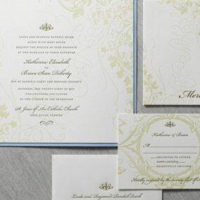 Ivy Garden Wedding Invitation Suite