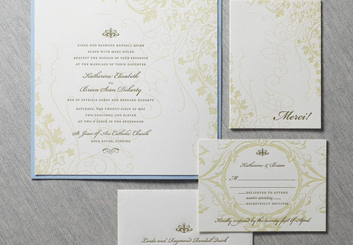 Ivy Garden Wedding Invitation Suite