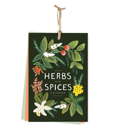 Rifle Paper 2014 Herbs and Spices Calendar