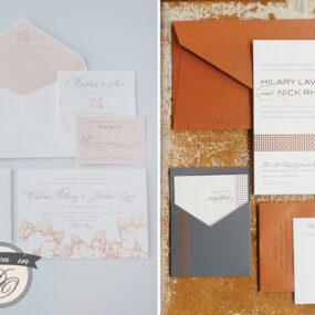 Spark Letterpress Wedding Invitations