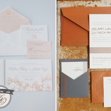 Spark Letterpress Wedding Invitations