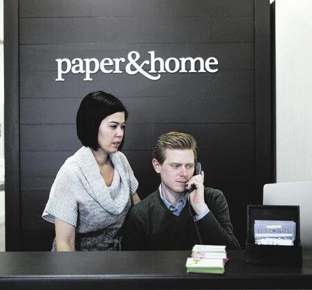 Brooke Coxen and Michael Coxen at Paper and Home Las Vegas