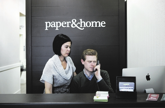 Brooke Coxen and Michael Coxen at Paper and Home Las Vegas