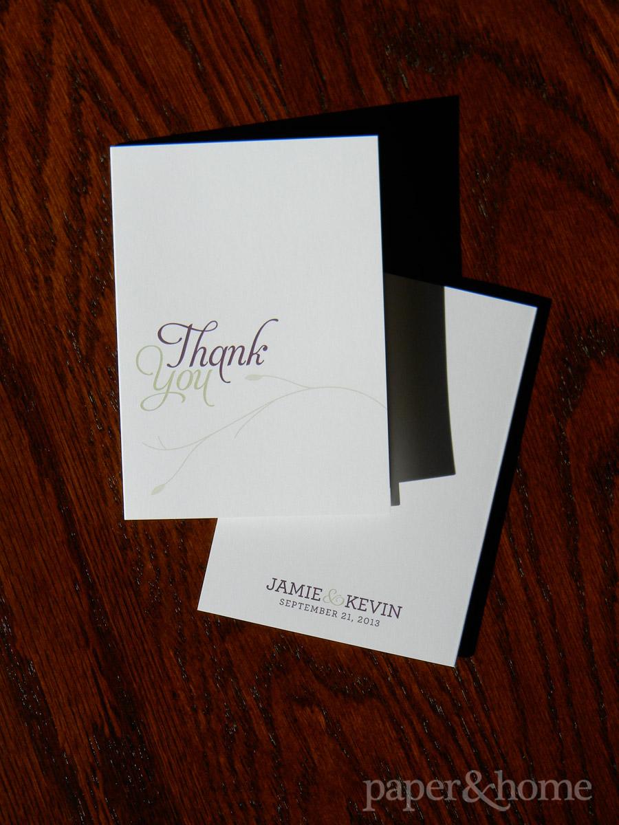 Garden Wedding Thank You Card