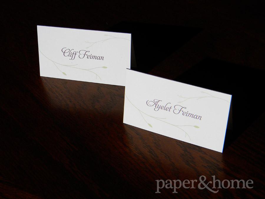 Garden Wedding Place Cards