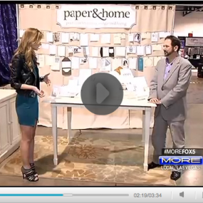 Paper and Home Wedding Invitations on FOX MORE Las Vegas