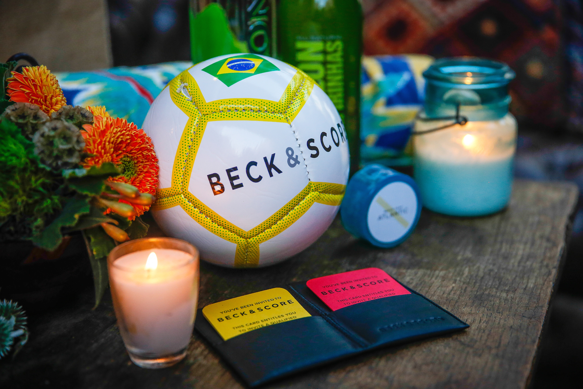 Soccer theme party stationery