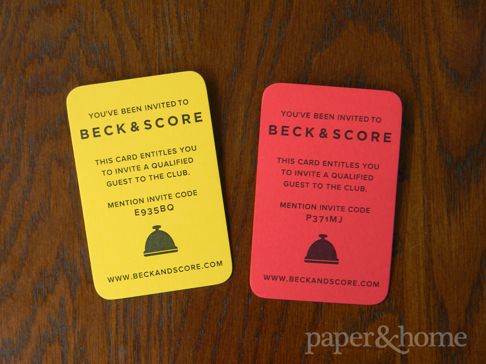 Beck & Score Custom Yellow Card and Red Card