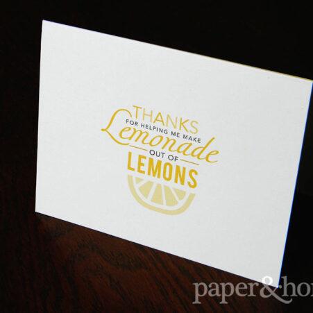 Lemonade out of Lemons Custom Greeting Card
