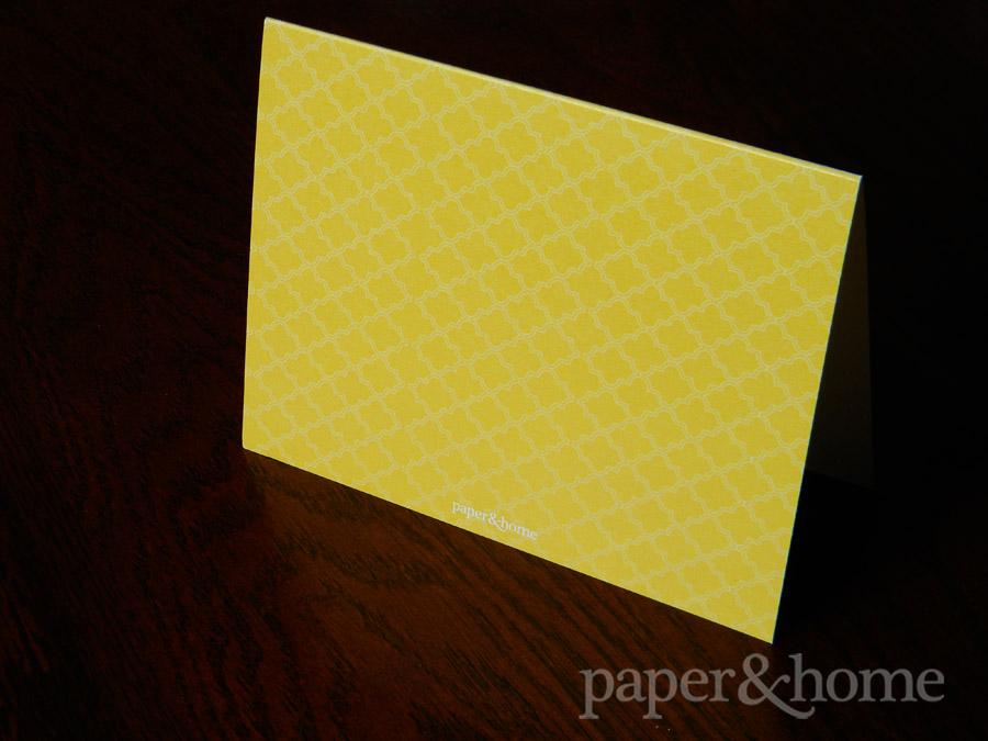 Lemonade out of Lemons Custom Greeting Card Flooded Yellow Back Pattern