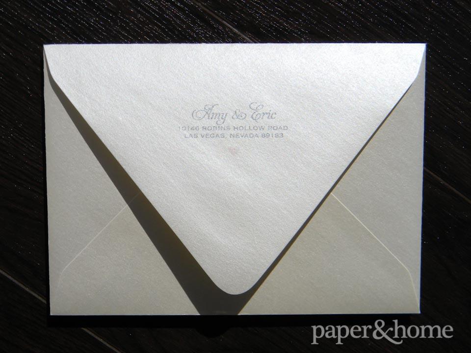 Champagne Shimmer Euroflap envelope.