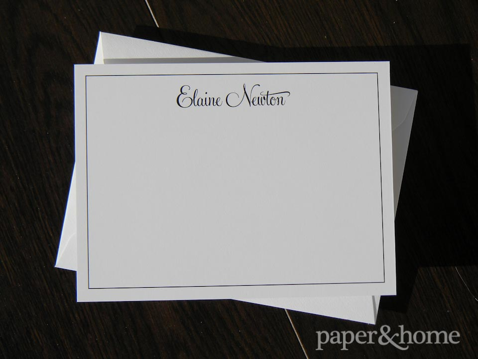 classic personal stationery correspondence set on thick 2-ply paper