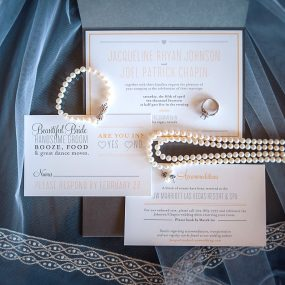 modern pocket wedding invitation