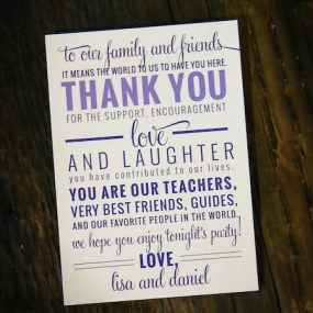 wedding day thank you cards