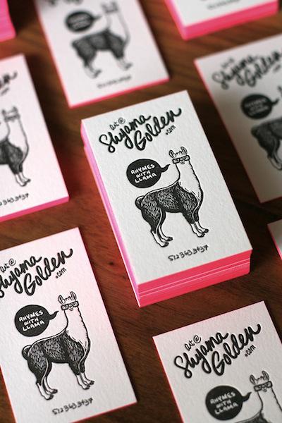unique letterpress business cards
