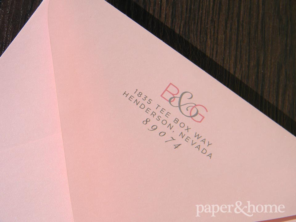 Pink Monogram Envelope