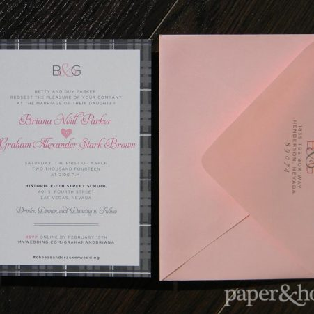 Celtic Wedding Invitations with Pink Envelope