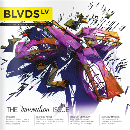 BLVDS LV July August Innovation Issue featuring Paper and Home