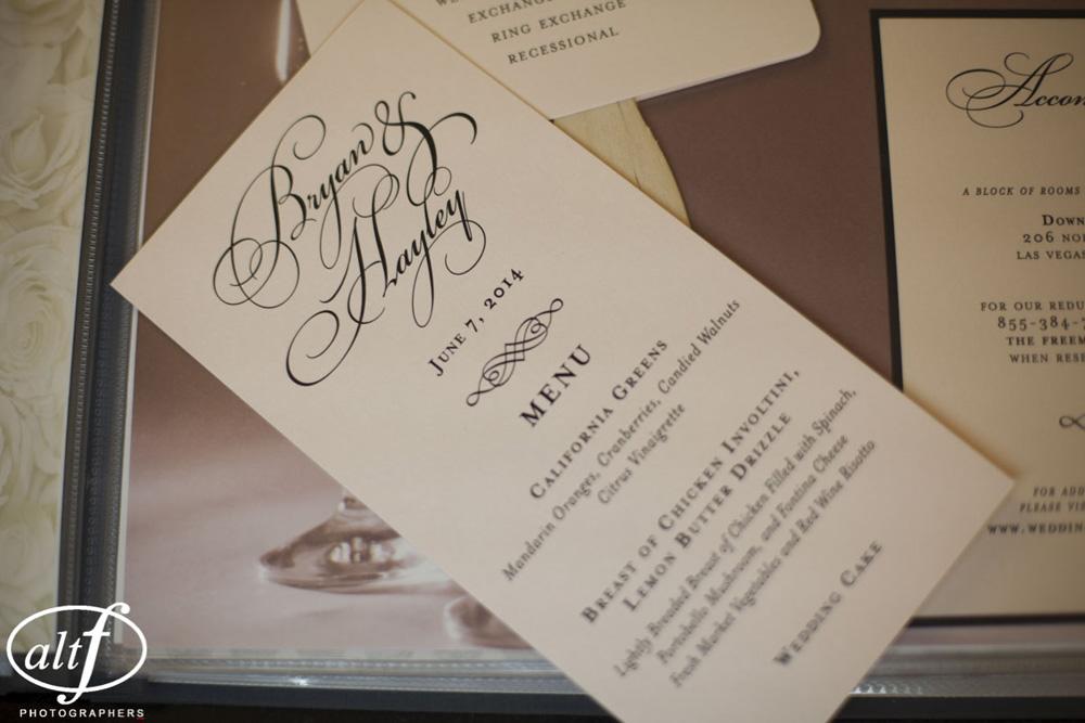 elegant menu cards