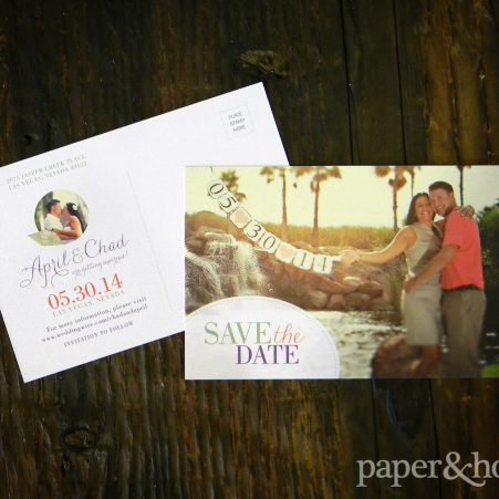 photo save the dates postcard