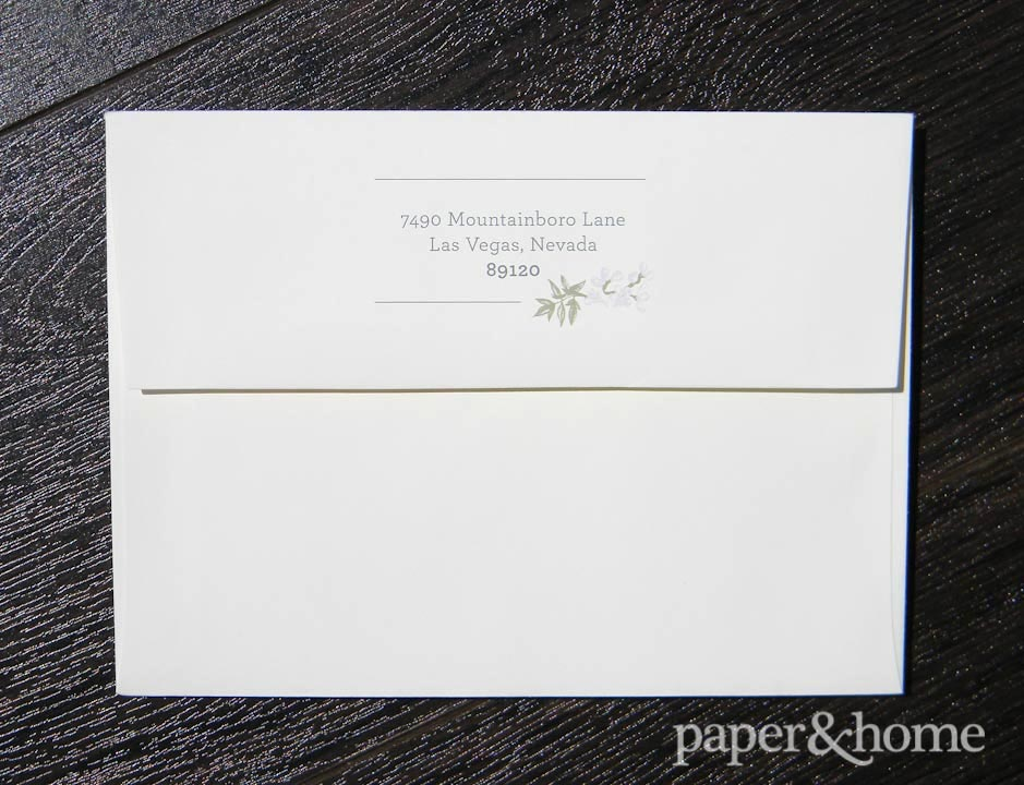 garden wedding invitations envelope