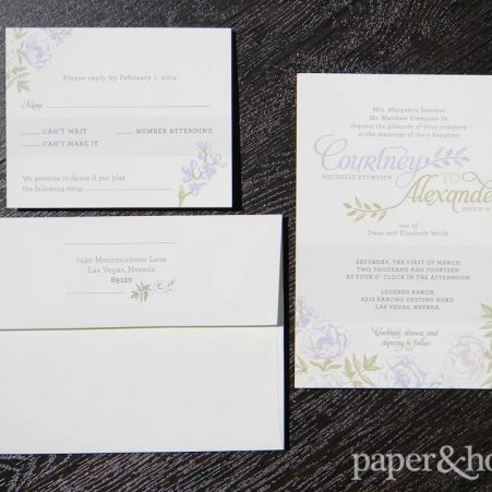 garden wedding invitations set