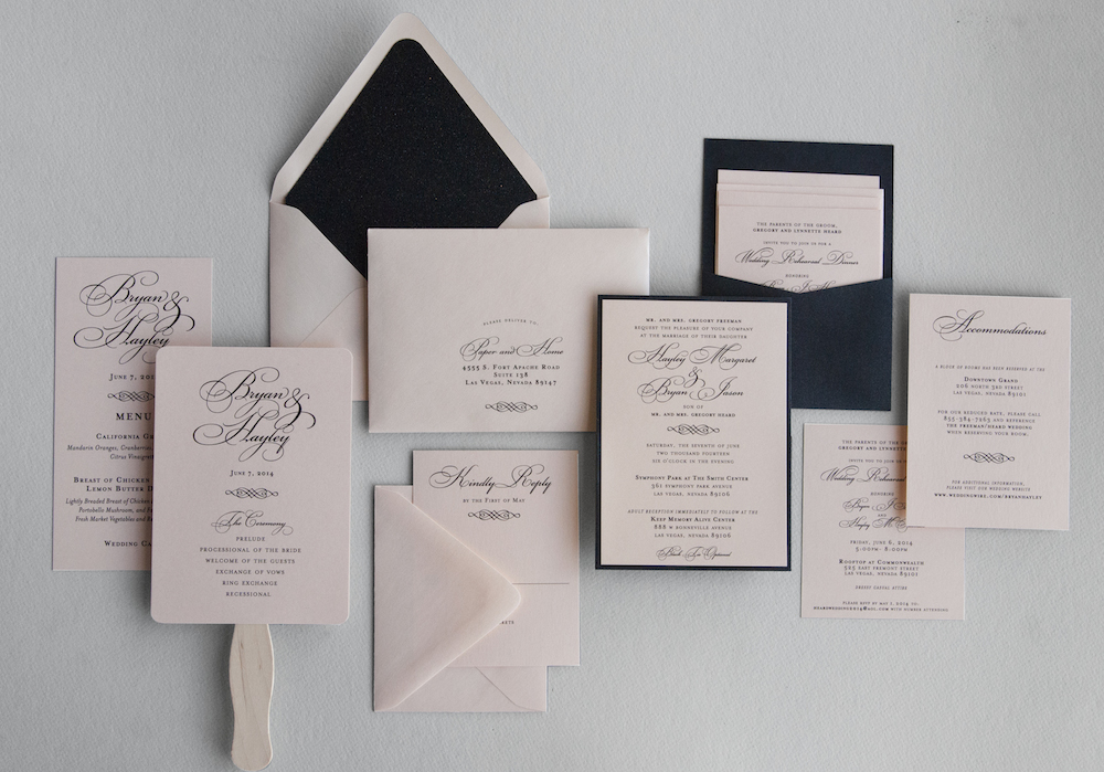 glamorous wedding invitations hayley bryan paper and