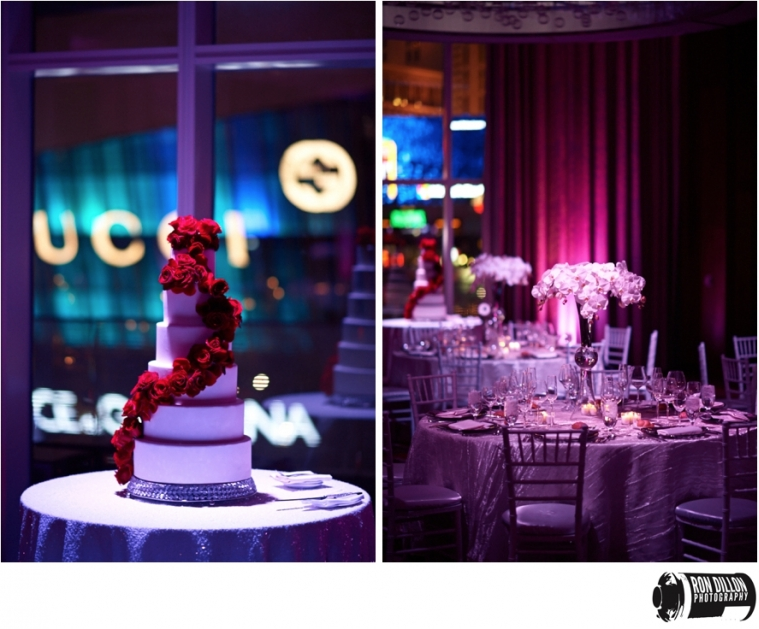 Mandarin Oriental Wedding Reception Cake and Table Setting
