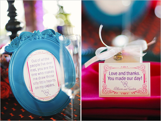 modern wedding signs and favors