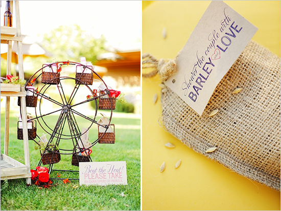 modern vegas wedding favors and signs