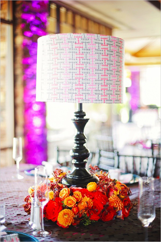 modern lamp centerpiece