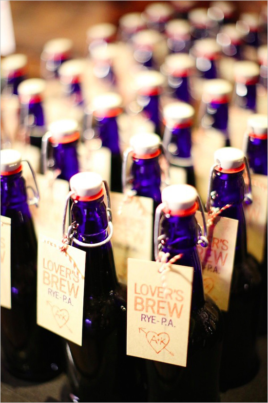 beer wedding favors tags