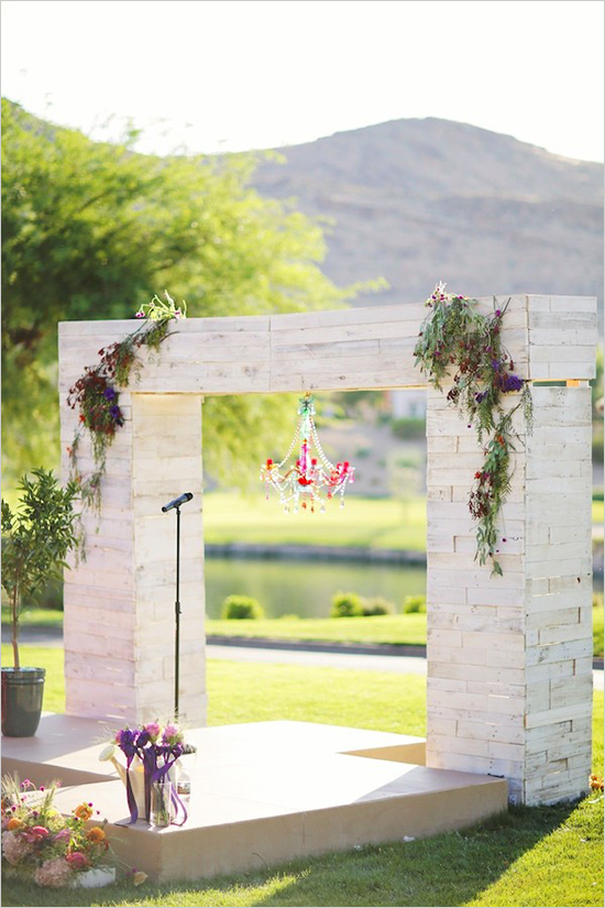 modern vegas wedding ceremony