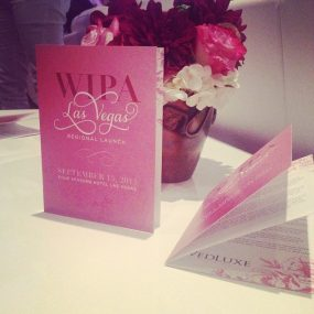 event programs stationery las vegas WIPA