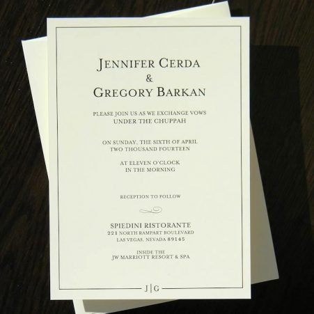 classic wedding invitations and envelopes