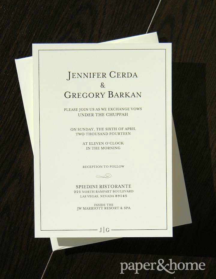 classic wedding invitations and envelopes