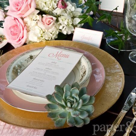 western wedding stationery