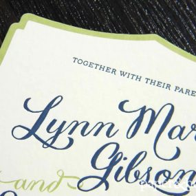 modern letterpress wedding invitations