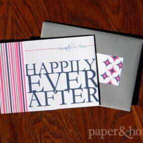 vibrant trifold wedding invitations