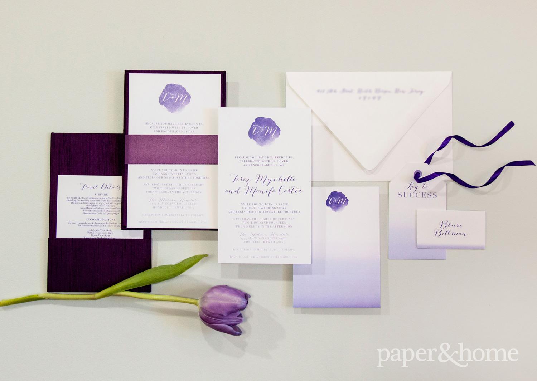 monifah and terez LGBTQ wedding stationery