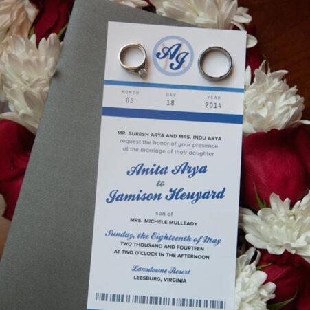 sports themed wedding invitations