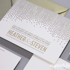 modern polka dot wedding invitations