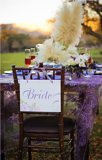 romantic garden bride sign