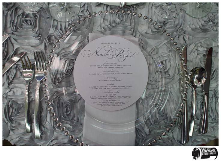 die cut circle luxury menu cards