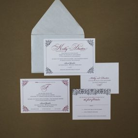 black and red wedding invitations