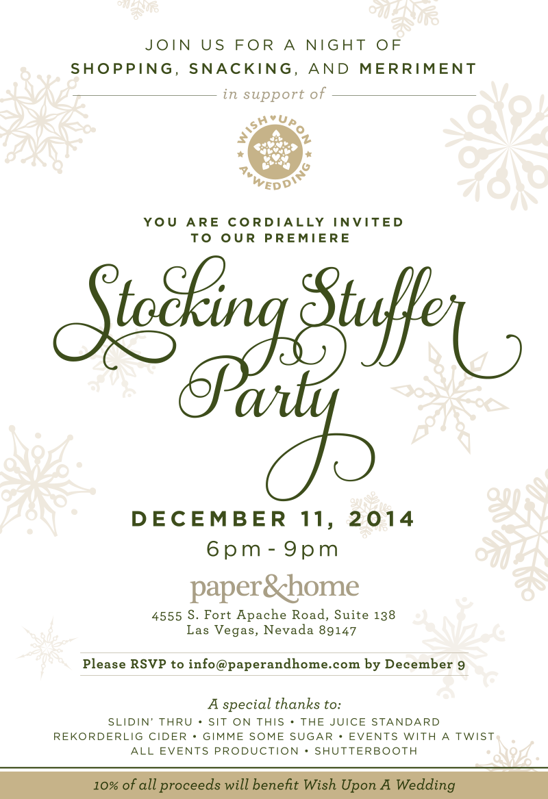 Paper and Home Stocking Stuffer Party