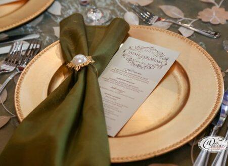 TPC Summerlin Wedding Menu Cards